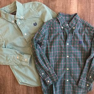 Chaps Button Ups Collared Shirts